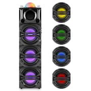 DisGo Box 365, párty audio systém, akumulátor, bluetooth, USB, MP3, FM, LED svetelný efekt