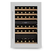 Vinsider 35D Built-in Wine Refrigerator 128 Litres 41 Bottles of Wine 2 Zones Silver