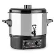 Biggie Small Fully Automatic Cooker Cooking Pot 16 Liter 2000 W Stainless Steel 16 ltr / analog / silver