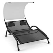 DANDYLAND, siva,ležaljka s ljuljačkom, dvomjesna, 130 X 200 CM, štit protiv sunca Siva