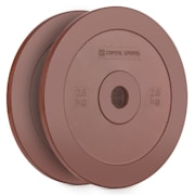 Methoder Technique Training Discs Weight Plates Rubber Pair 2.5 kg Red 2x 2.5 kg