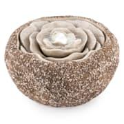 Rosewater, 36 x 19 cm, vrtna fontana, LED, čerpadlo, izgled prirodnog kamena