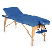 MT 500 Massage Table 210 cm 200 kg Foldable Fine Cell Foam Bag Blue Blue