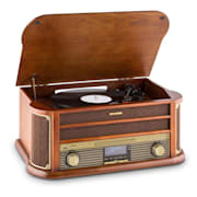 Belle Epoque 1908 Equipo estéreo retro DAB Tocadiscos DAB+ Bluetooth Marrón | Reproductor de CD/Bluetooth/Radio DAB