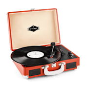 Peggy Sue Retro-Skivspelare Vinyl LP USB Line Out dark orange mörk orange