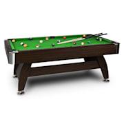 Leeds Billiard Table 8' (122 x 79 x 244 cm) Queues Ball SetGreen Green