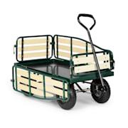 Ventura Handwagen Bolderwagen Zware Lasten 300 kg Staal Donkergroen