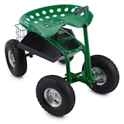 Park Ranger garden chair on wheels 130 kg storage placesteel green