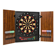 Dartmaster 180 Dartboard Darts Soft Tip Doors brown Brown