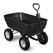 Black Elephant Garden Wagon Trolley 125 l 400 kg Tiltable Black Black