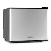 Klarstein mini lednička, mini bar, 17 litrů, 50W, A +, stříbrná Stříbrná