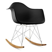 Aurel Rocking Chair Retro PP Shell Birchwood Black Black