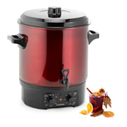 Biggie Preserving Cooker Stainless Steel 27 Litres 2000W Timer Red 27 ltr / analog / red