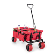 Red Devil, ručný vozík, skladací, 68 kg, bočné vrecká, červený Červená