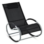 Retiro люлеещ се стол, алуминий, полиестер, черен цвят Черно