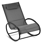 Retiro люлеещ се стол, алуминий, полиестер, сиво цвят Сив
