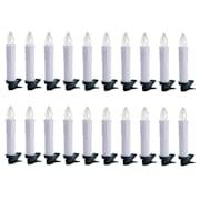 Eternal Flame komplet 20 świeczek na choinkę 20 LED ciepła biel pilot