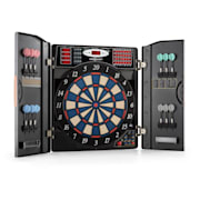 Masterdarter Dartboard Dart Machine Soft Tip Doors Wooden Look Brown