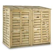 Ordnungshüter 2T, box na popelnice, 145 x 130 x 87 cm (ŠxVxH), 2 koše, FSC - borovice