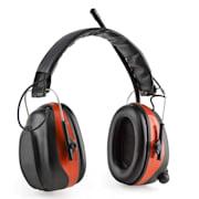 Jackhammer BT Baustellen-Kopfhörer Lärmschutzkopfhörer UKW-Radio 4.0 Bluetooth Aux-In SNR 28dB Rot