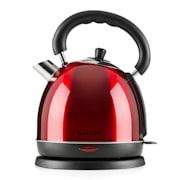 Klarstein Teatime, vízforraló, teakancsó, 1850 - 2200 W, 1,8 l, nemesacél, rubinvörös Piros