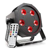 BFP120 FlatPAR, 5x 8W RGBW LED diody, 3-v-1 LED lampy, DMX, IR dálkové ovládání