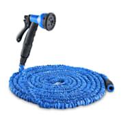 Flex 30, furtun de grădină flexibil, 8 funcții, 30M, culoare albastră 30 m