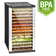 Fruit Jerky 14 Dehydrator 1000 W 14 Stainless Steel Tiers Black 14 stages