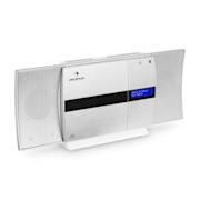 V-20 DAB Chaîne stéréo verticale Bluetooth NFC CD USB MP3 DAB+ argent blanc Argent
