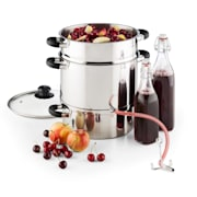 Applebee Steam Juicer Electric 1500W Ø25cm 8 Litres Stainless Steel