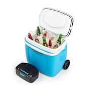 Picknicker Trolley Music Cooler Przenośna chłodziarka na kółkach 36l głośni Niebieski