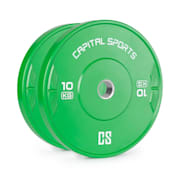 Elongate Bumper Plate, disk uteg, 2 x 10 kg, zeleni