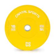 NIPTON, bumper disc, greutate, gumă întărită, 1 x 15 kg, culoare galbenă 15 kg