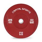 Nipton, bumper disk, uteg, 1 x 25 kg, tvrda guma, crvena boja