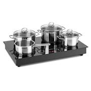 Deejay, indukcijska kuhalna plošča, 35 W, steklena keramika, nadzor na dotik, črna barva