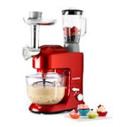 Lucia Rossa 2G Küchenmaschine Mixer Fleischwolf 1300W BPA-frei Rot