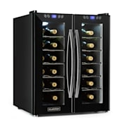 SaloonNapa Chłodziarka na wino 67 l 2 drzwi szklane 11–18°C czarna Czarny