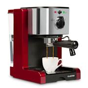 Passionata Rossa 20 espresso machine 20 bar cappuccino milk foam red Red