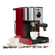 Passionata Rossa 20 kávovar na výrobu espressa, 20 bar, cappuccino, mléčná pěna, červená barva Červená