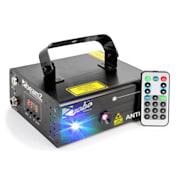 Anthe II, dvojitý laser, 7 DMX kanálov, 9 W RGB, 12 motívov, master/slave
