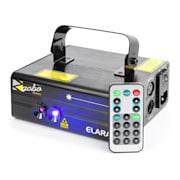 Elara Laser a Doppio Raggio 18 W RB 12-Gobos DMX 6 Telecomando IR