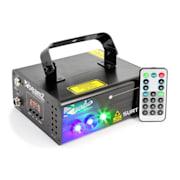 Surtur II Laser Doppio Raggio RG 3W LED Blu 8 Gobos 7 DMX Telecomando IR