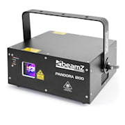 Pandora 1200 TTL RGB lézer, 12/23 DMX csatorna, 4 lézer osztály, fekete