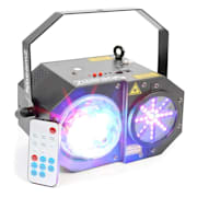 SWAY 3-IN1-LED JELLYBALL SA LASEROM I LED-orgulje RGBW-LEDS 150MW-RG LASER