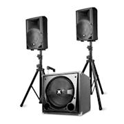 """VX800BT 2.1 aktív hangfal készlet, 800 W, 12"""" subwoofer, 2x8'' hangszóró, BT, USB, SD"""