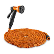 Water Wizard 15 Flexibler Gartenschlauch 8 Funktionen 15 m orange