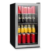 Beersafe 4XL, chladnička, na nápoje, 124l, 0-10°C, sklo, A+, nerezová oceľ Strieborná | 124 litrov
