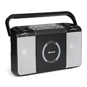 Boomtown USB, boombox, CD player, FM radio, MP3, prijenosni radio, crna boja Crna