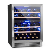 Vinovilla Duo43 Two-Zone Wine Refrigerator 129l 43 Bottles 3-Colour Glass Door 43 Ltr | 2 cooling zones
