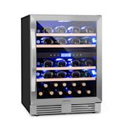 Vinovilla Duo 43 kétzónás borhűtő, 129 l / 43 palack, 3 színű LED, üvegajtó 43 Ltr | 2 hűtőzóna